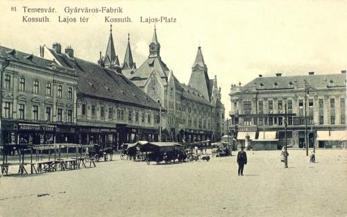 Temesvár:Kossuth Lajos tér.1910