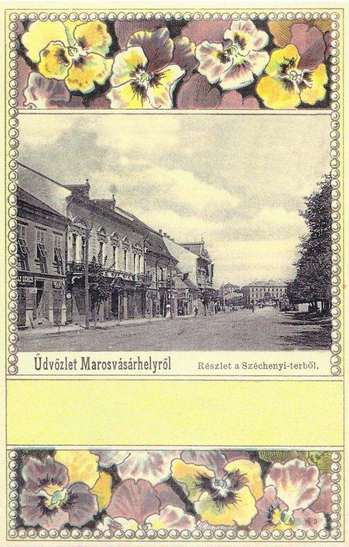 Marosvásárhely:részlet a Széchenyi térből.1901