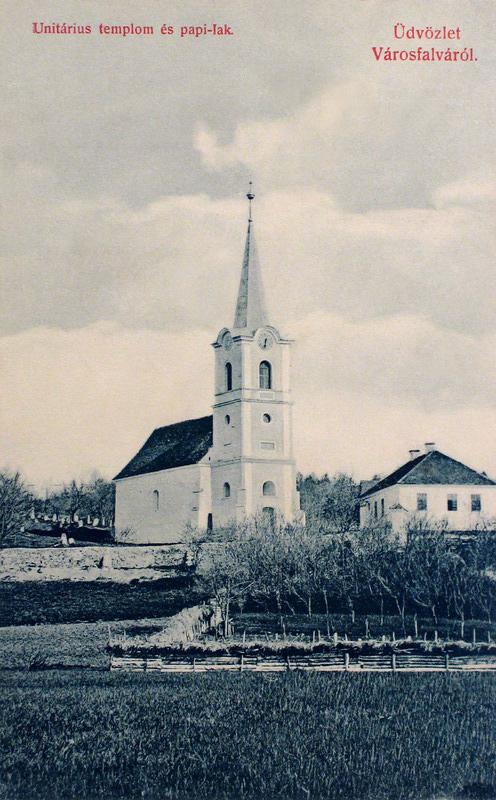Városfalva:unitárius templom és papi lak.1909