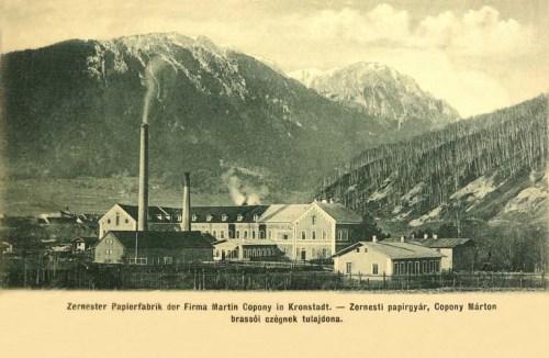 Zernest:papirgyár,Copony Márton féle brassói cég tulajdona.1902