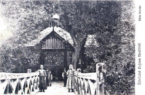 Zajzon-fürdő:Béla forrás.1914