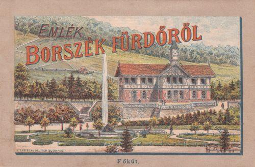 Borszékfürdő:Főkút a zenepavilonnal.1889