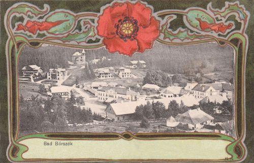 Borszék:látkép a villákkal.1901
