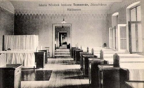 Temesvár:Iskola nővérek intézete,hálóterem.1911