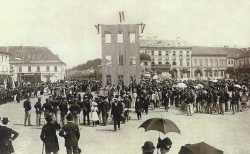Marosvásárhely:25 éves tűzoltó ünnepség.1901 augusztus.20.