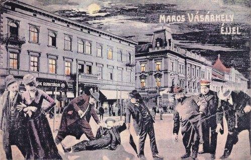 Marosvásárhely éjjel, részegen hazafelé 1911