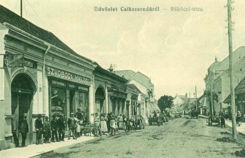 Csikszereda:Rákóczi utca,Szoboda Miklós könyvnyomdája.1913