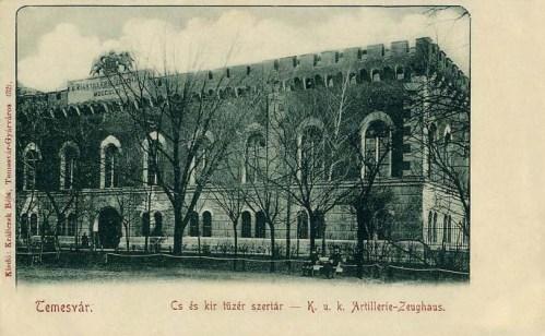 Temesvár:császári és királyi tűzér szertár.1902