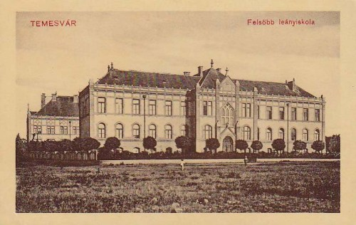 Temesvár:Felső Leányiskola.1912