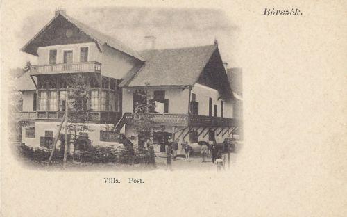 Posta villa,itt működött a távirda hivatal és a posta is.1902