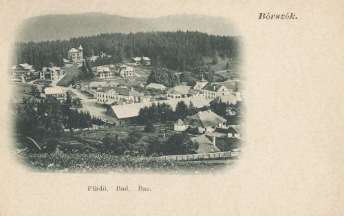 Borszék:látkép a villákkal.1902