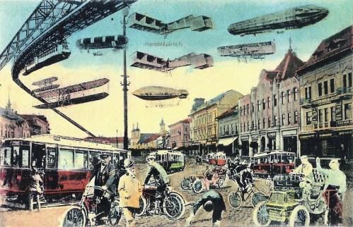 Marosvásárhely:100 év múlva a jövőben.1911