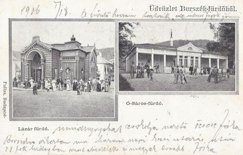 Borszék:Lázár-és Ó-Sáros fürdő.1903