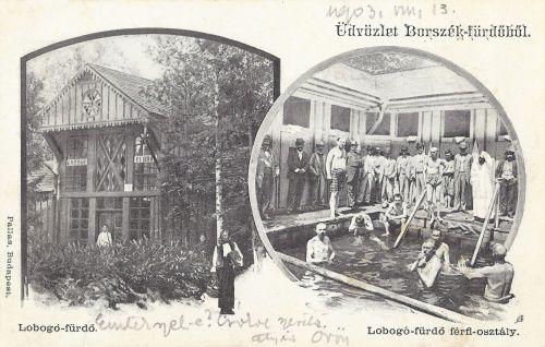 Borszék:Lobogó fürdő férfi részlege.1903