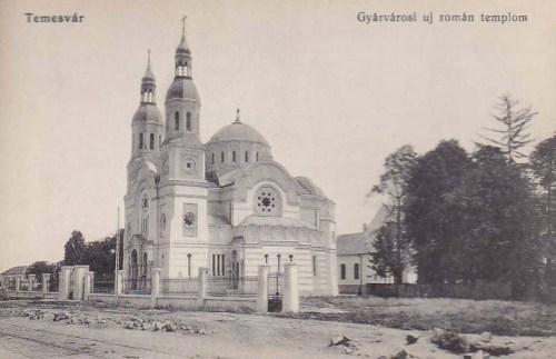 Temesvár:új román szecessziós templom.1913
