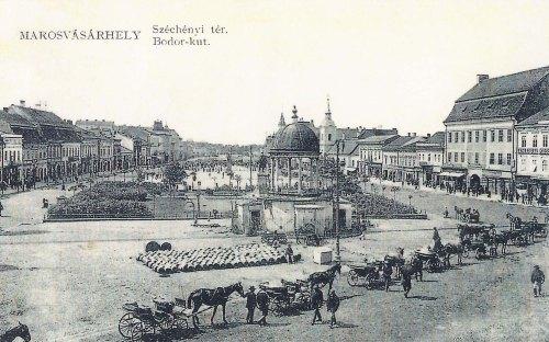 Marosvásárhely:Bodor Péter zenélő kútja.1911