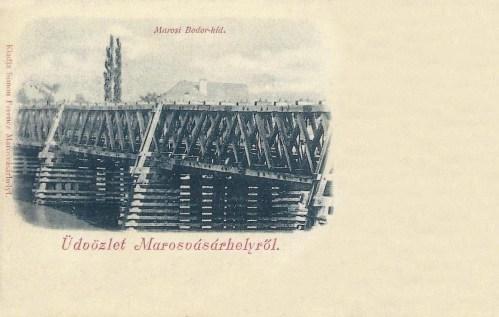 Marosvásárhely:Bodor Péter székely ezermester hidja a Maroson.1902