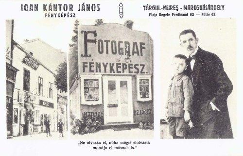 Marosvásárhely:Kántor János fényképész üzlete.1929
