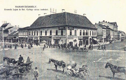 Marosvásárhely:Kossuth és Szentgyörgy utca sarka.1911