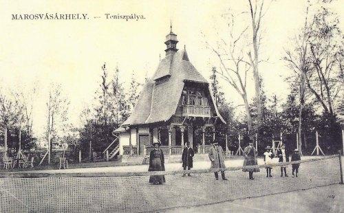 Marosvásárhely,tenisz pálya az Erzsébet ligetben 1911