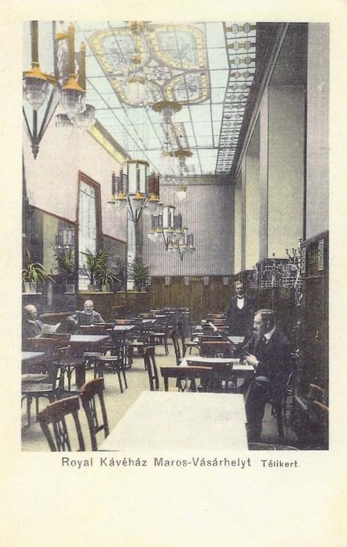 Marosvásárhely:Royal kávéház,téli kert.1911