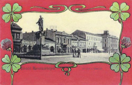 Marosvásárhely,szecesszió,Bem József szobra 1901