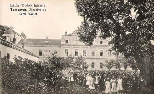 Temesvár:Iskola nővérek intézete,kert részlet.1911