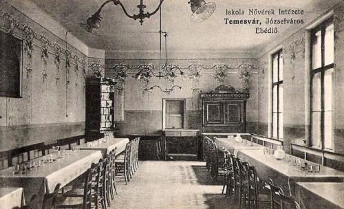 Temesvár:Iskola nővérek intézete,ebédlő.1911