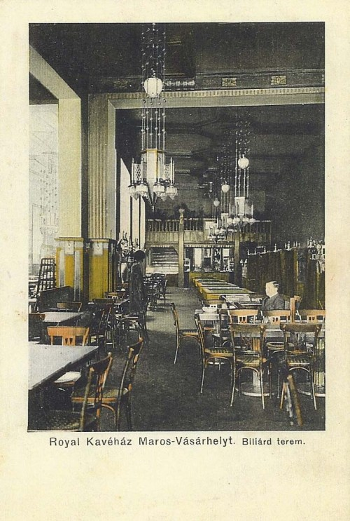 Marosvásárhely:Royal kávéház, billiárd terem.1911