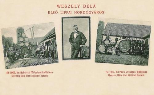 Lippa:Veszely Béla hordógyáros.1908