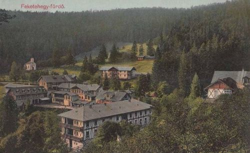 Feketehegy-fürdő:kápolna és villák.1913