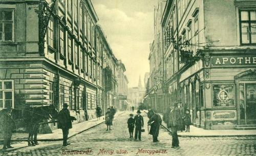 Temesvár:Mercy utca,gyógyszertár.1908
