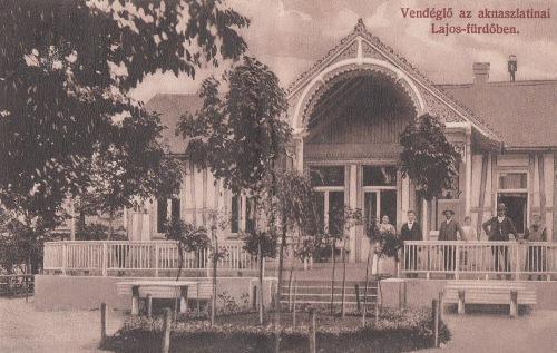 Aknaszlatina:vendéglő Lajos fürdőben.1908
