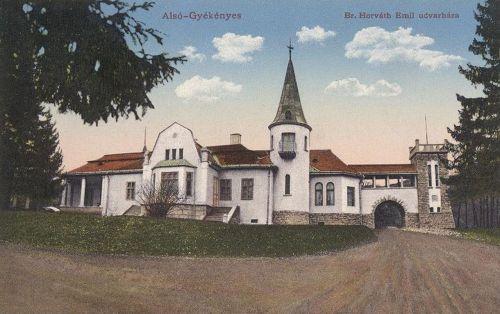 Alsógyékényes:báró Horváth Emil kastélya.1909