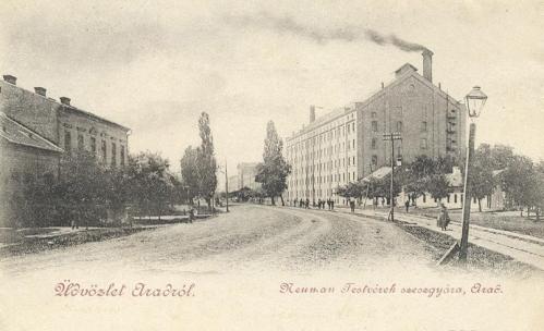 Arad:Neuman testvérek szeszgyára.1901