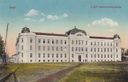 Arad:MÁV üzletvezetőség palotája.1914