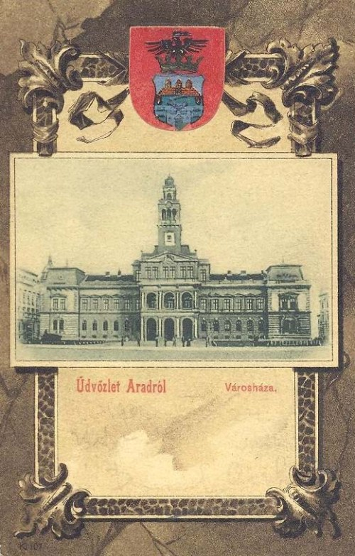 Arad,Városháza 1901