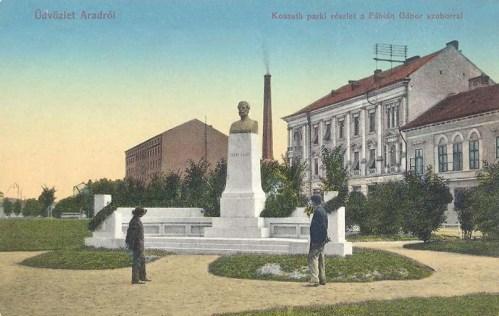 Arad,Fábián Gábor szobra 1913