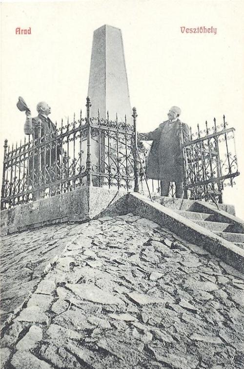 Arad,13 vértanú tábornok kivégzőhelye 1908
