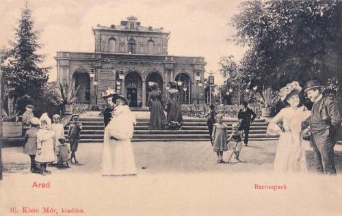 Arad:Baross park,kioszk.1903