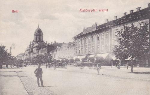 Arad:Andrássy téri részlet.1909