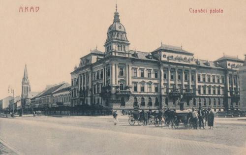 Arad:Csanád Vasúti Társaság palotája.1909