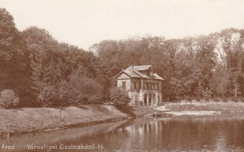 Arad:városliget,csónakázó tó.1913