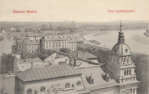 Arad:látkép a Maros folyóval.1908