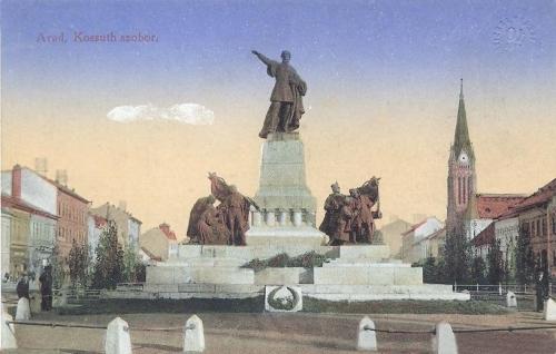 Arad,Kossuth szobor 1916