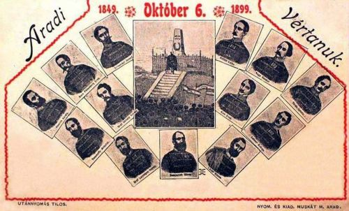 Arad:vértanú tábornokok,1848 október 6.(1899)