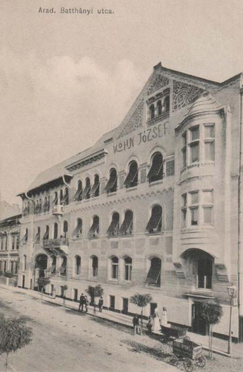 Arad:Batthányi utca szecessziós épülettel.1915