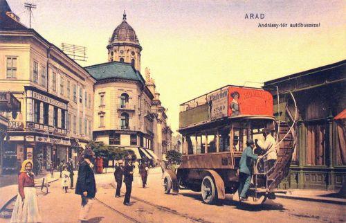 Arad:autobusz az Andrássy téren.1910