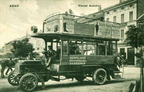 Arad:városi autóbusz.1911