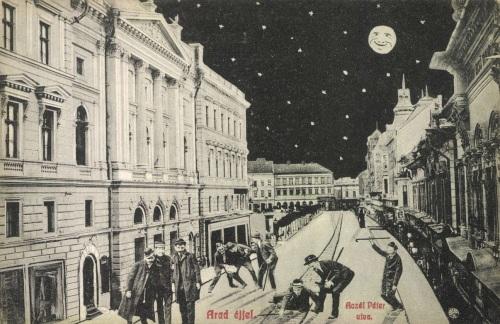 Arad:éjjel részegen hazafelé,1909.